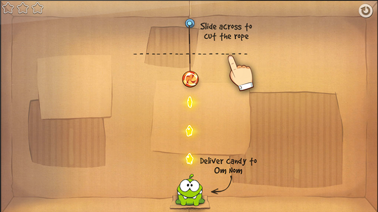 Screen shot showing game canvas with one Undo control visible