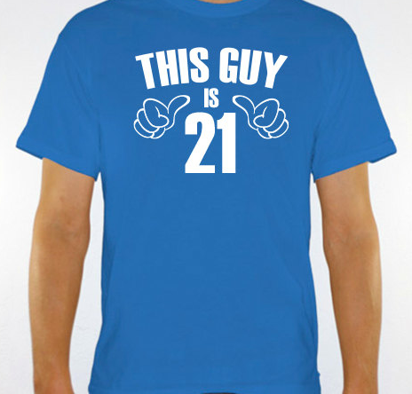 21st Birthday Gifts For Him This Guy Is 21 Mens T Shirt By Jonny Teez Etsy