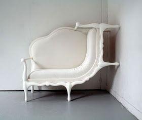 Cool Furnitures: Wall Climbs Up Sofa