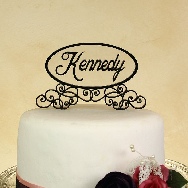 Wedding cake topper personalized in your name with floating letters ...