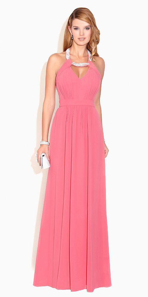 Vestido de noche. Rosa. | vestidos | Pinterest | Vestido de noche ...
