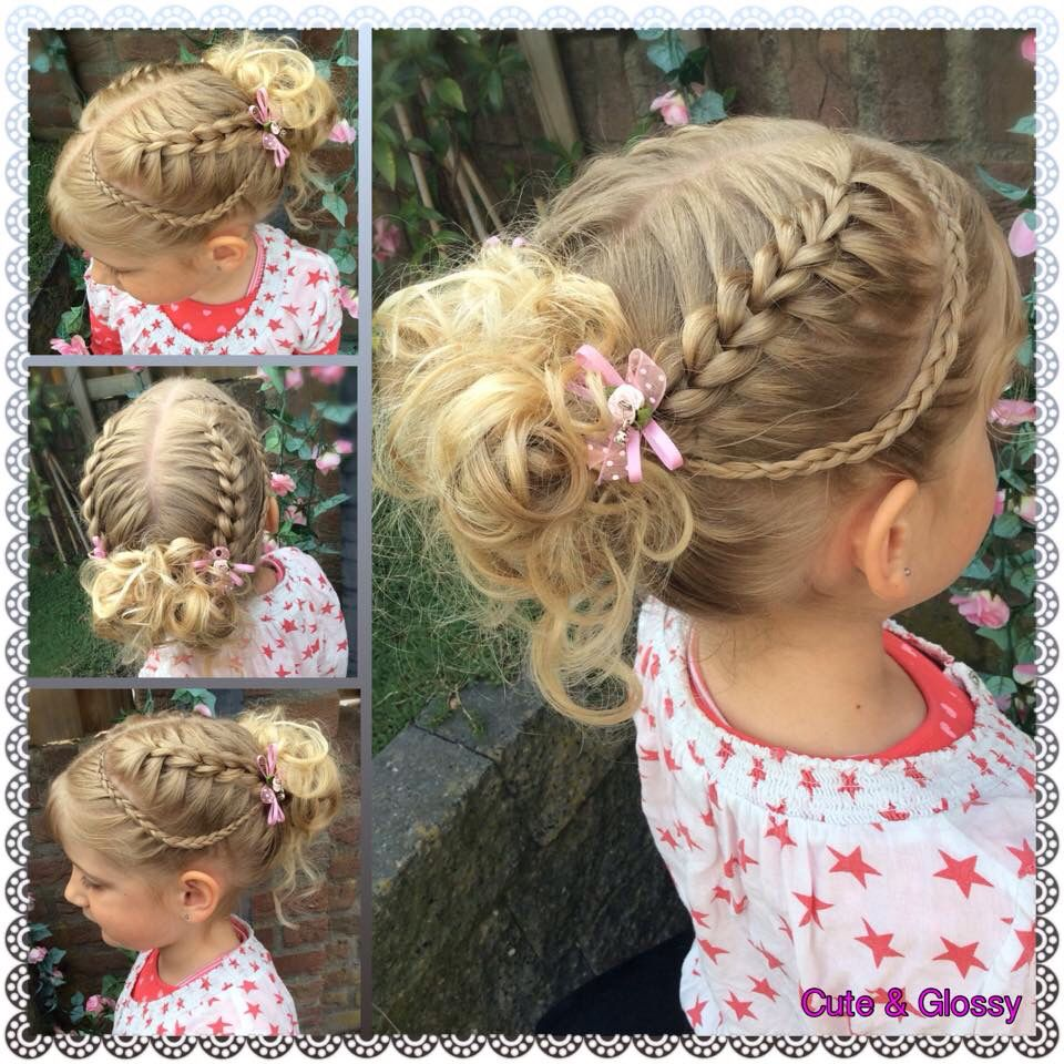 Big scissors braid pull through without elastic bands hairstyle