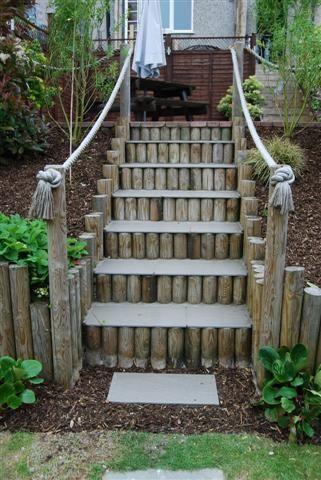 15 Awesome Diy Garden Steps And Stairs Garden Stairs Diy | Outdoor Garden Under Stairs | Small | Crosstie | Gardening | Landscaping | Lawn