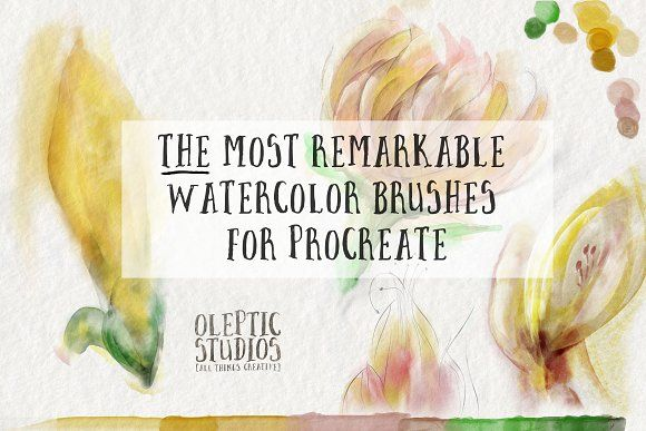 Best Watercolor Brushes Procreate