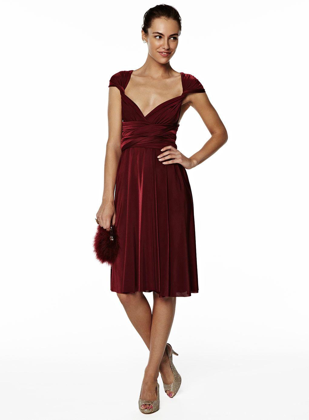 Saphire short twist wrap dress wine dark red bridesmaid dress dark red bridesmaid dresses ombrellifo Choice Image