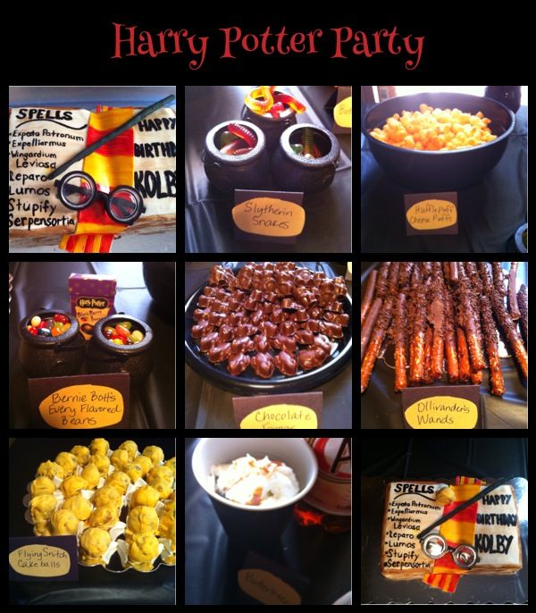 Harry potter party food tammys treats and sweets pinterest harry potter party food forumfinder Images