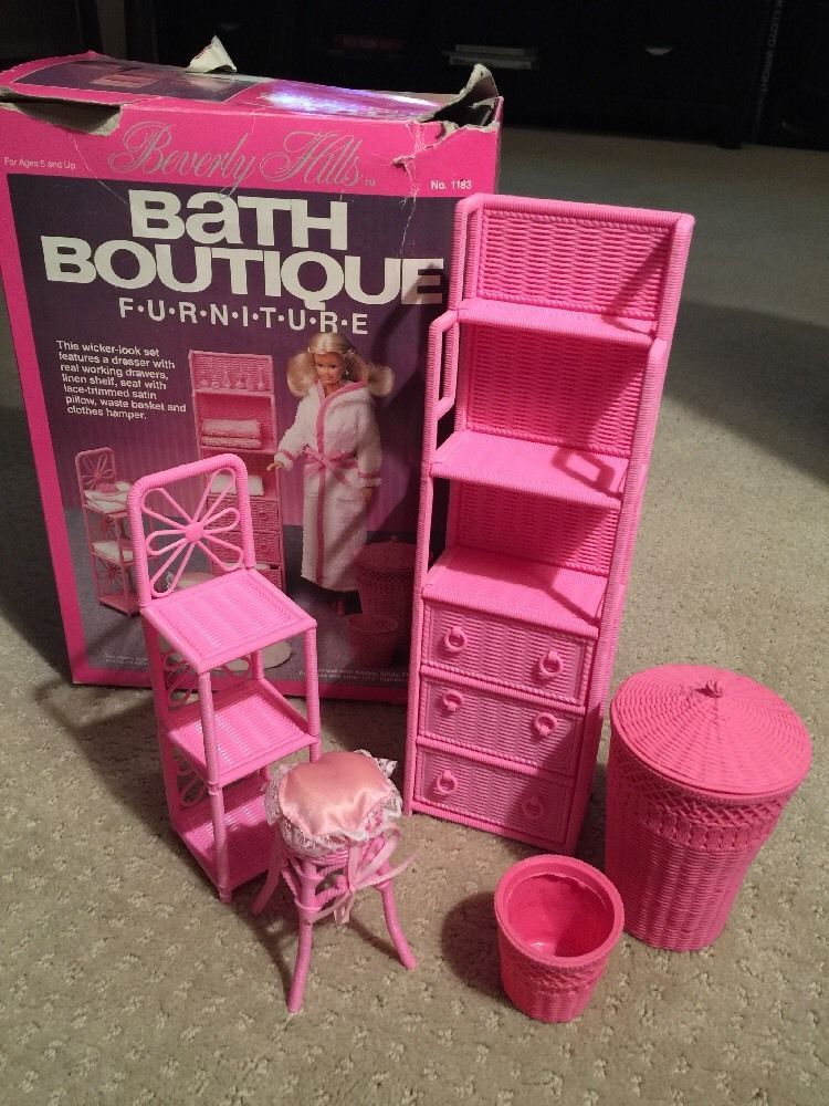 Vintage 1985 Barbie Doll Beverly Hills Bath Boutique ...