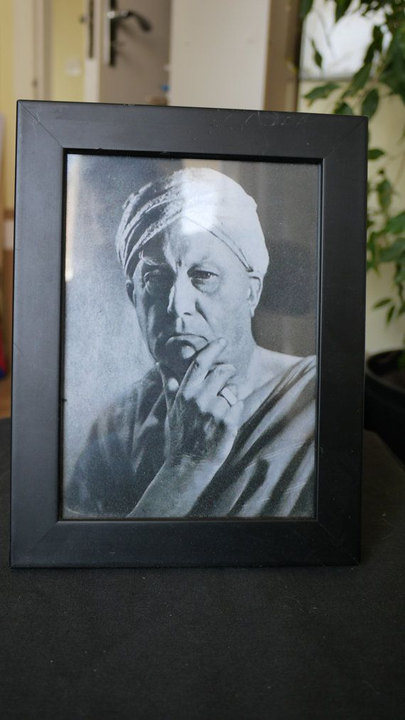 Aleister Crowley | Reproduction photograph in black frame by ...