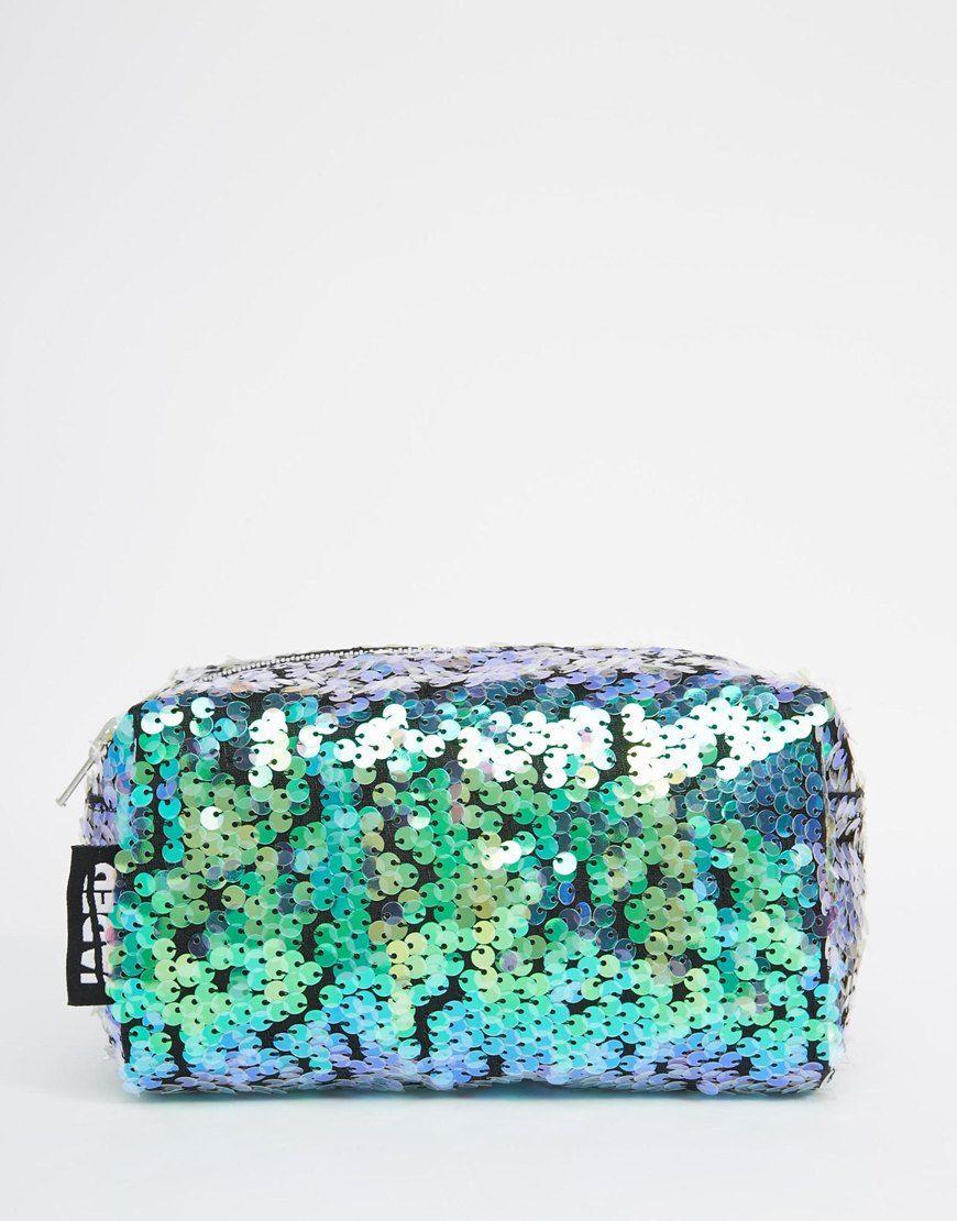 Image 1 ofJaded London Mermaid Sequin Make-Up Bag
