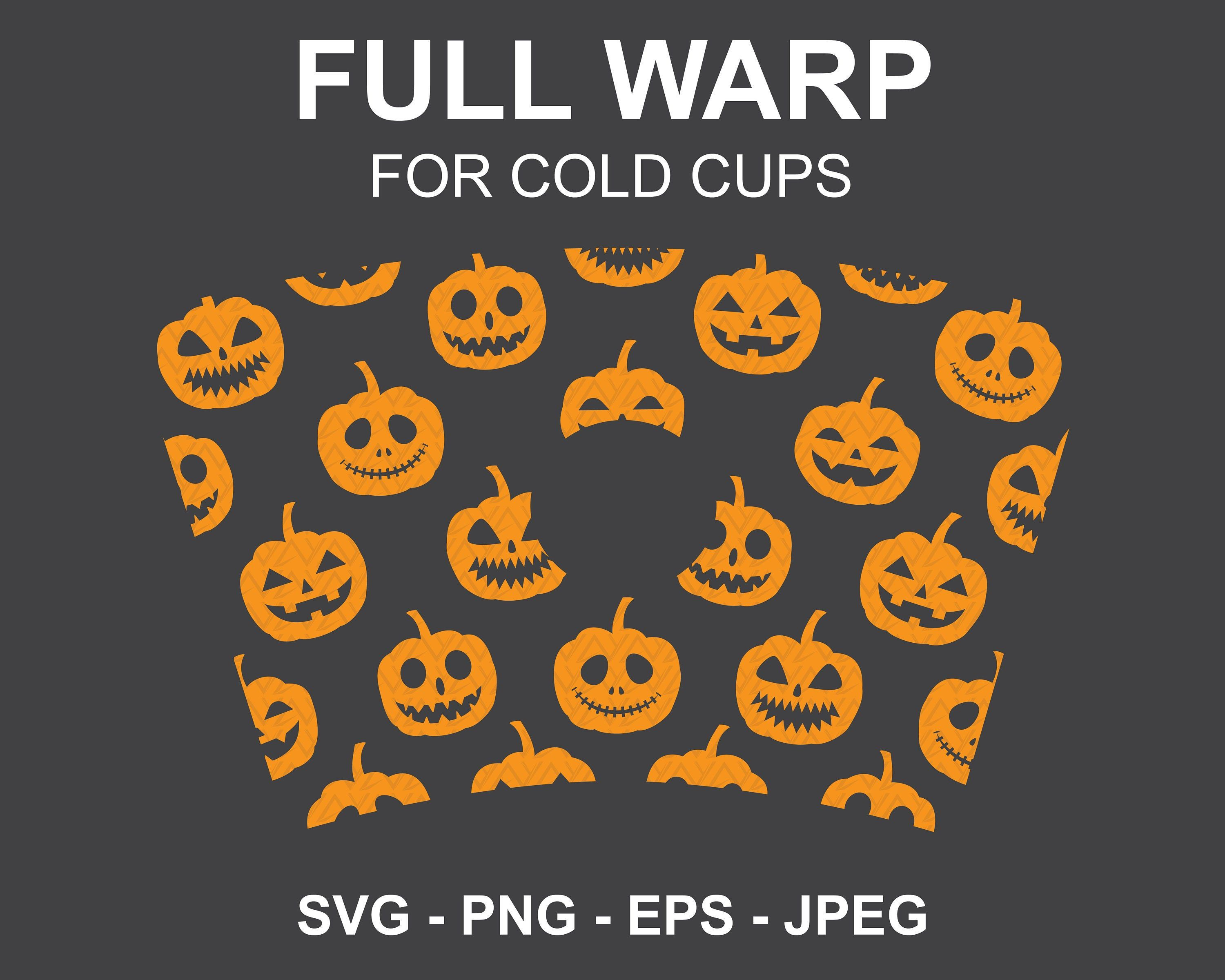 Halloween Pumpkin Starbucks cup SVG,Pumpkin Halloween Full