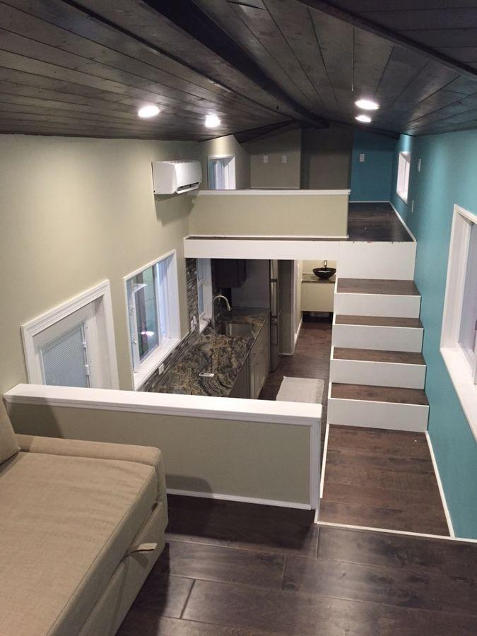 Photo of 32′ Gooseneck Westbury Tiny House with Awesome Living Room