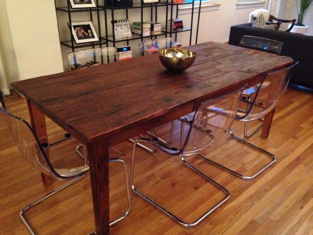 ikea tobias chairs at wood table