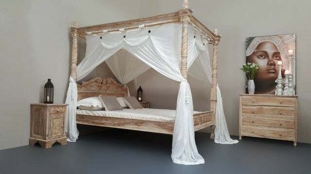 CANOPY DELUXE Muslin Mosquito Net for Four Poster Bed King