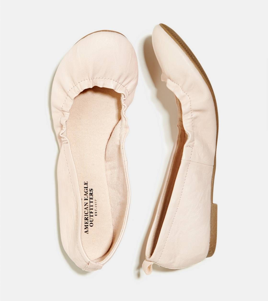 Nude AEO Scrunched Ballet Flat