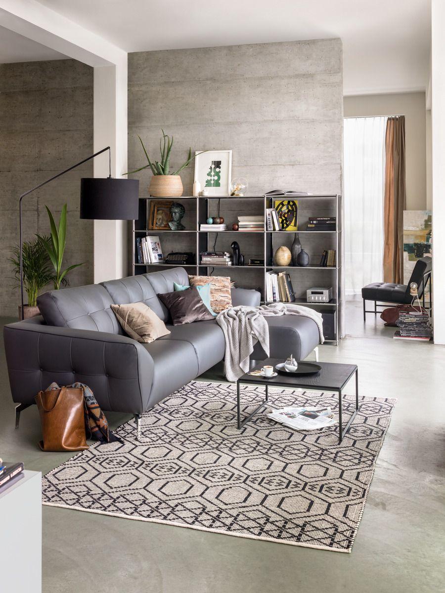 Micasa wohnzimmer mit ecksofa grimm regal flexcube micasa wohnen pinterest wohnzimmer - Sitzgruppe wohnzimmer ...
