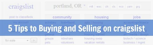 5 Tips To Help You Buy And Sell On Craigslist Selling On Craigslist Tips Housing Jobs