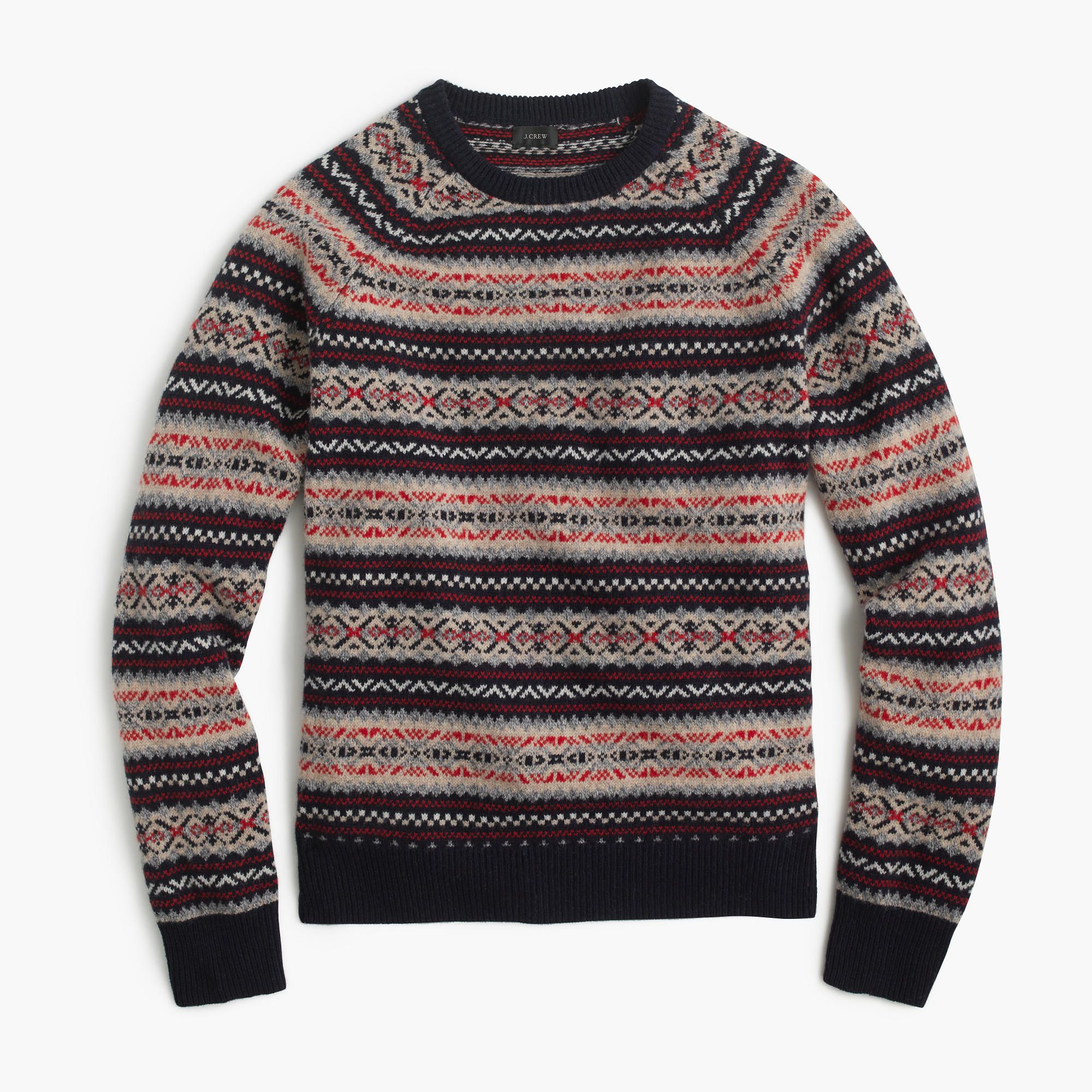 J.Crew - Lambswool Fair Isle sweater | Pullovers and Cardigans ...