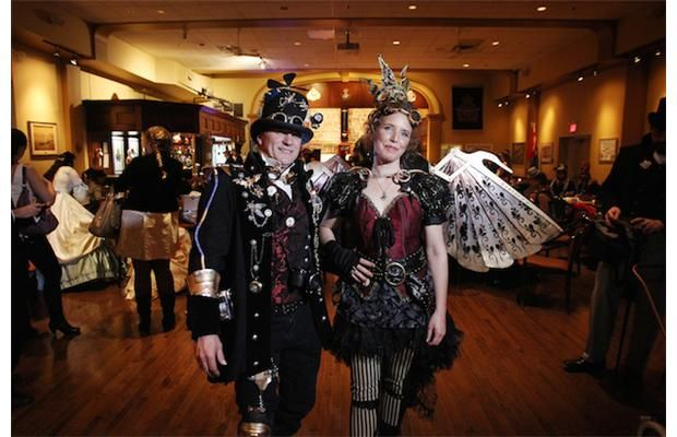 Our costumes for Steampunk Gala Loved making  my wings Photos: Ottawa Steampunk fifth anniversary gala