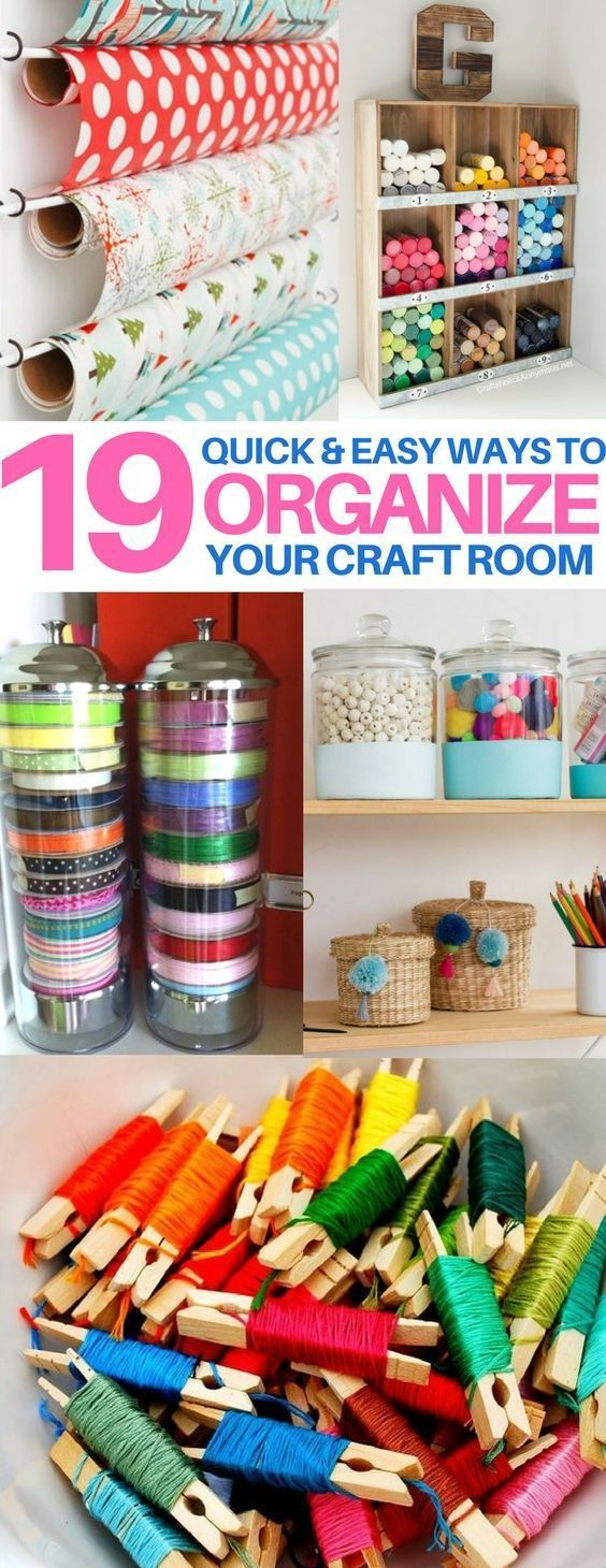 You Must Check These Craft Room Organization Hacks Out Organization Tips Tricks Craft Room Ideas Sewing Hacks Craft Room Sewing Rooms Sewing Organization
