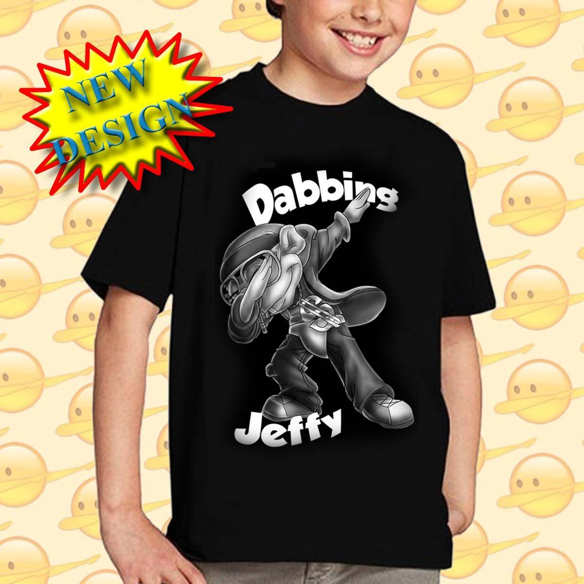 17e5b1243fa1 Dabbing Jeffy - SML T-Shirt - Black Jeffy T-shirts - Silk Screened Jeffy T- Shirt - Jeffy fan gift by RainbowUnicornsShop on Etsy