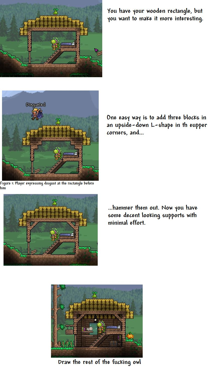 Tip for rectangle house | Terraria | Pinterest | Terraria and Video ...