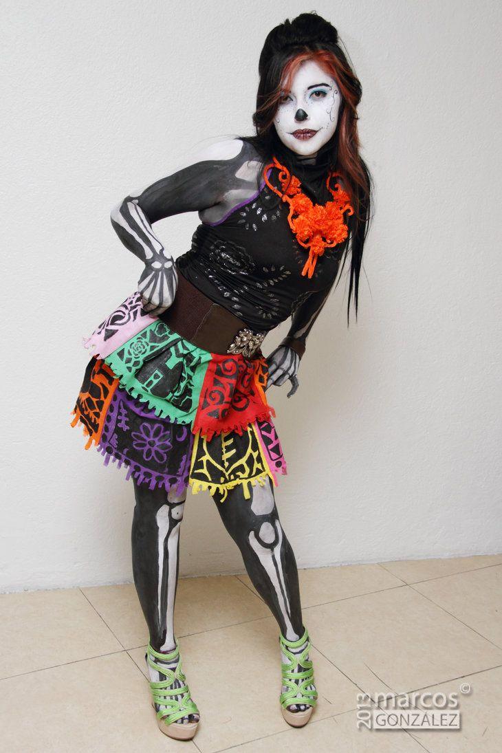 halloween costumes skelita calaveras - Skelita Calaveras Halloween Costume