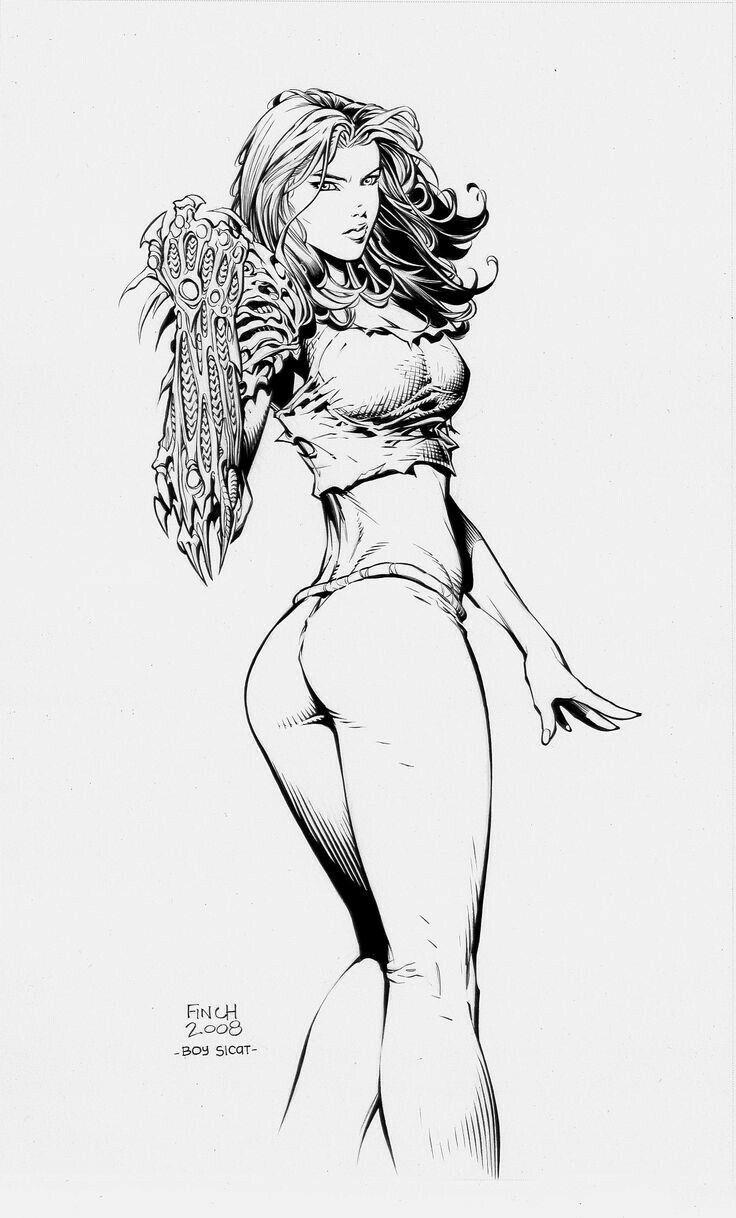 Witchblade esboço por David Finch
