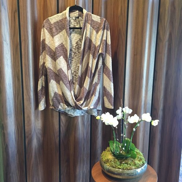 brown/tan/hint of purple pullover cardigan Good condition.  I'm selling for a friend and she has pets.  There is normal wear and tear as pictured around hem.  Price is negotiable! Sweaters Cardigans