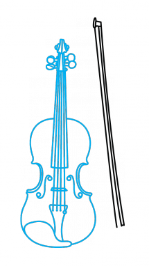 drawing violin how to draw a violin easy step by step drawing