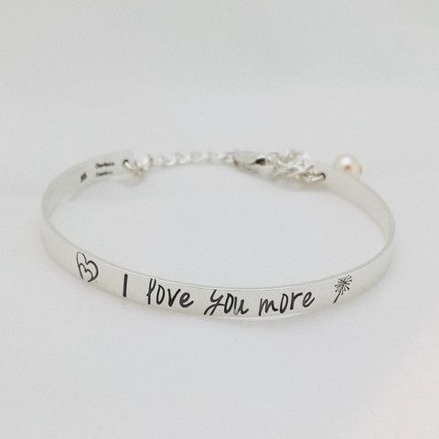 I Love You More Sterling Silver Child S Bracelet Charitable Creations Jewelry