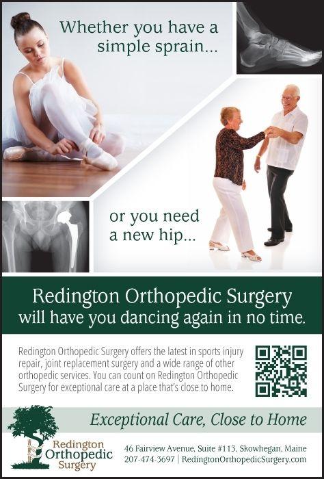 A Skowhegan, Maine, orthopedic practices' print ad, focusing