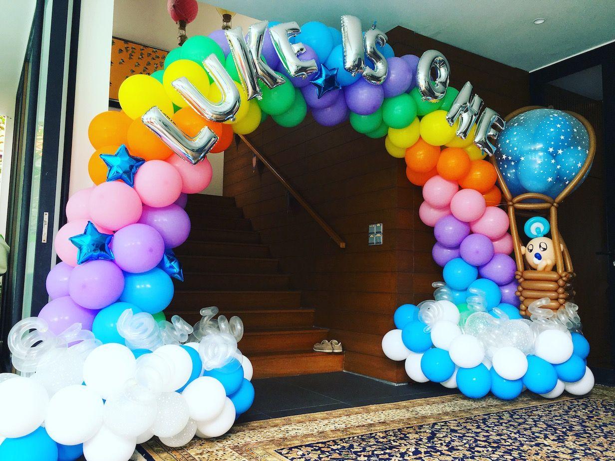 Luke Birthday Party Baloes De Arco Iris Festas De Aniversario