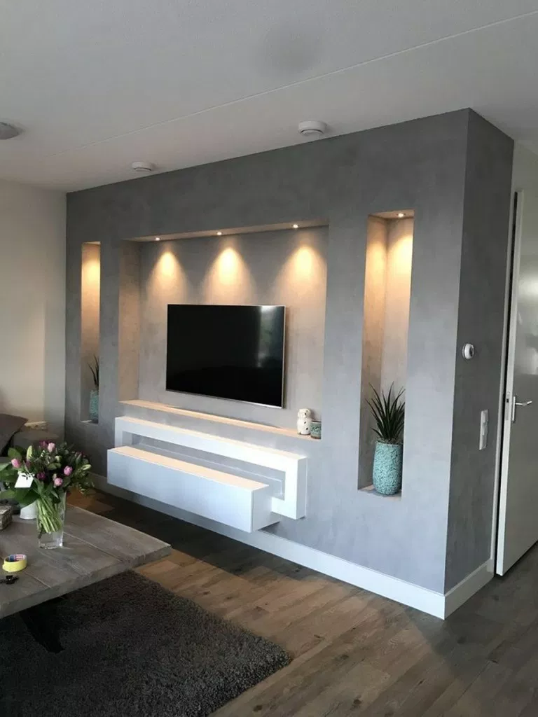 6 BEST TV WALL DESIGNS AND IDEAS - Page 6 #tvwall #tvideas