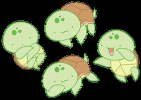 Chibi Turtle by Daieny | Kawaiiii in 2019 | Cute turtle ...