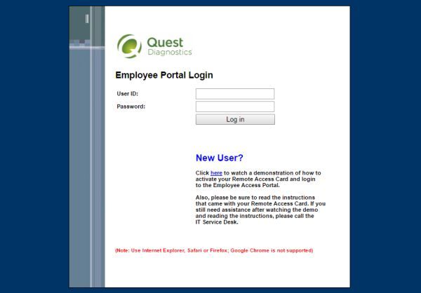 Employee Questdiagnostics Com Xquest Diagnostics Employee Portal