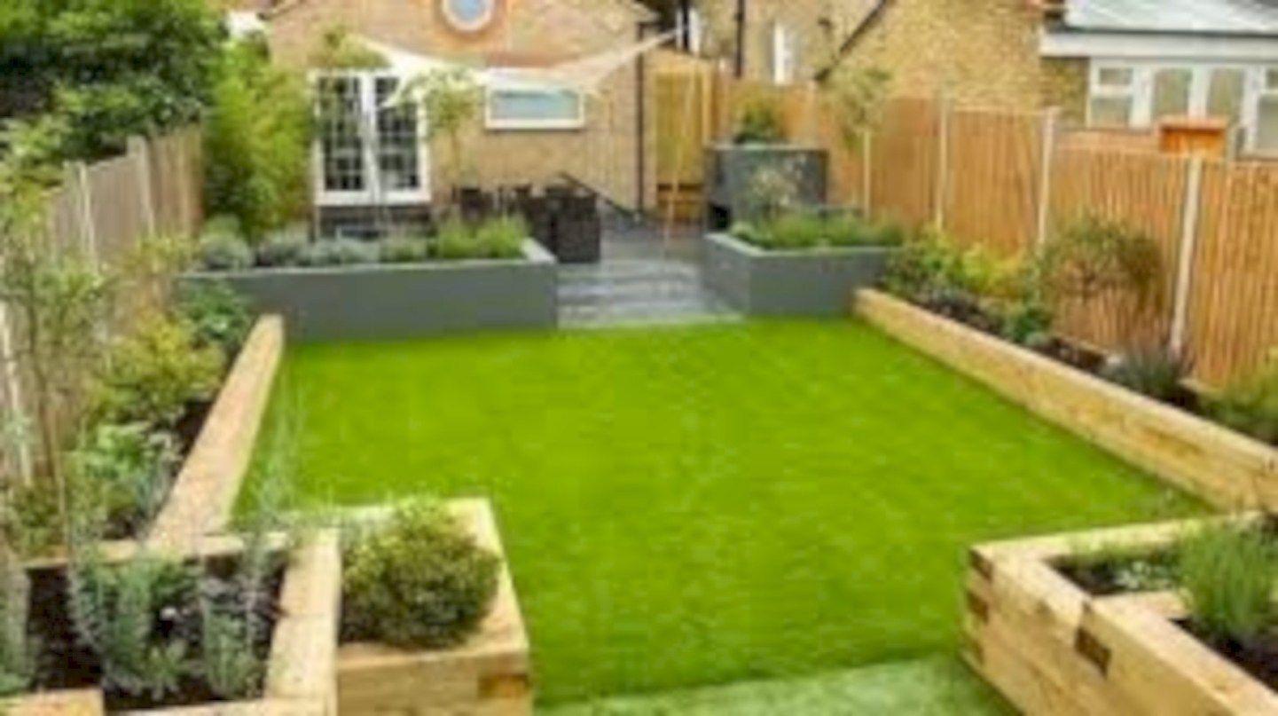 40 Simple Raised Garden Bed Inspirations Backyard Landscaping Ideas Backyard Garden Design Small Garden Design Terrace Garden Design