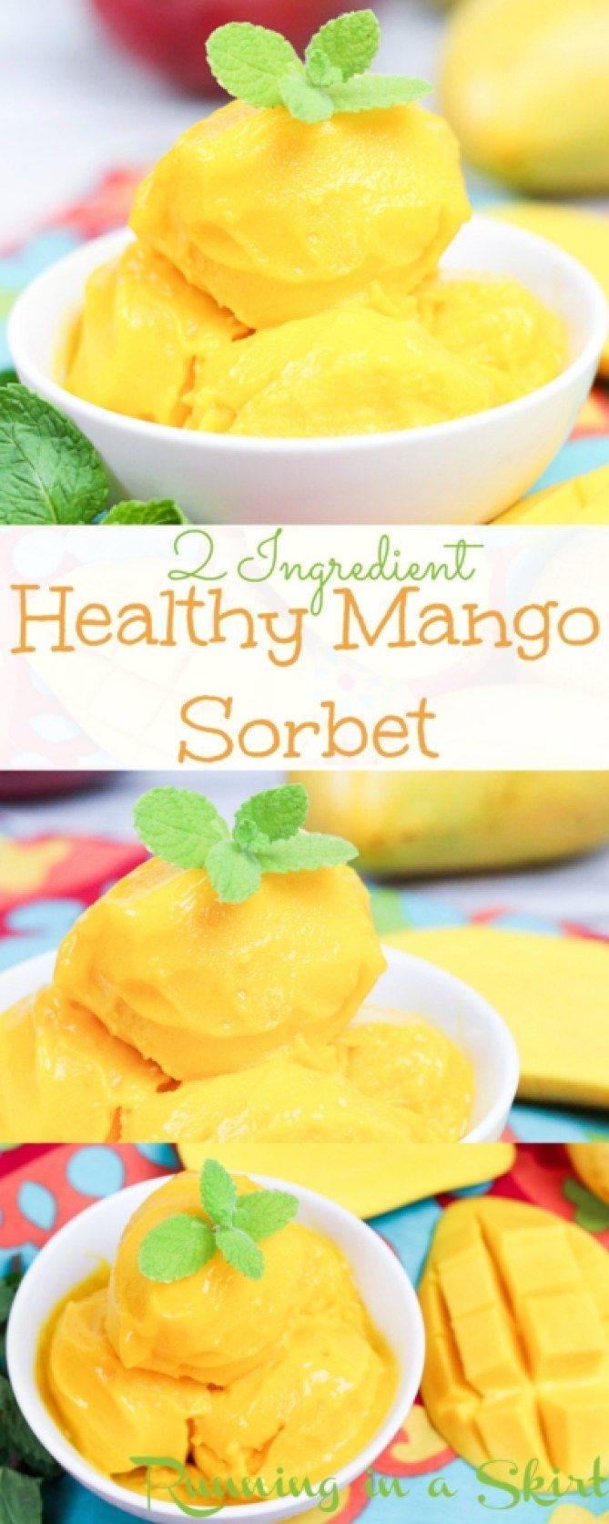 2 Ingredient Healthy Mango Sorbet Recipe This Easy And