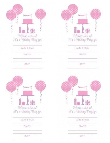 FREE Pink and Purple Girl Birthday Printables from Green Apple