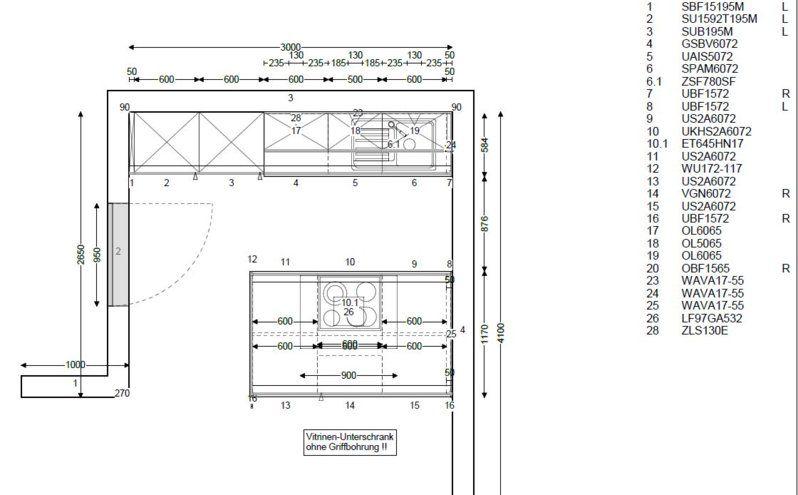 Bildergebnis für küchenplanung grundriss Küchen Pinterest - küche mit kochinsel grundriss