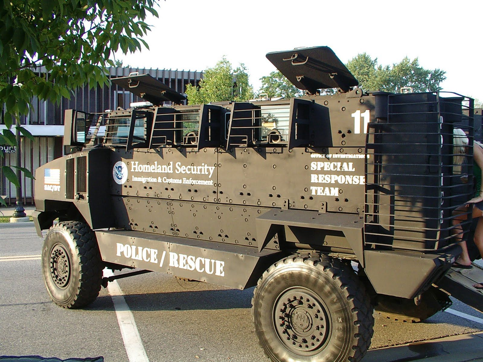 Mainstream media asks why is dhs stockpiling ammo weapons and armored assault vehicles