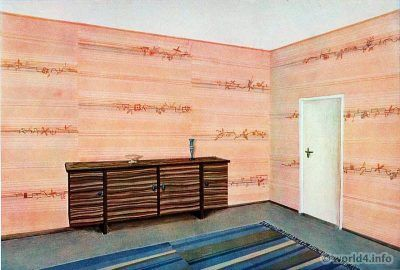 Living room by Müller. German Art Deco Interior