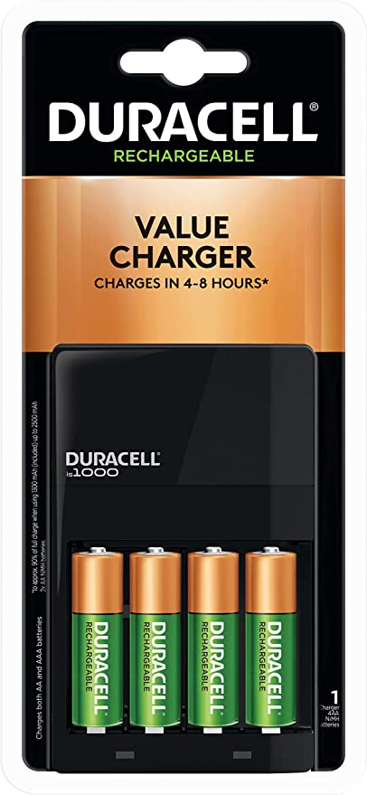 Amazonsmile Duracell Ion Speed 1000 Battery Charger Includes 4 Aa Batteries Charger For Aa And Aaa Batteries Duracell Aa Battery Charger Battery Charger