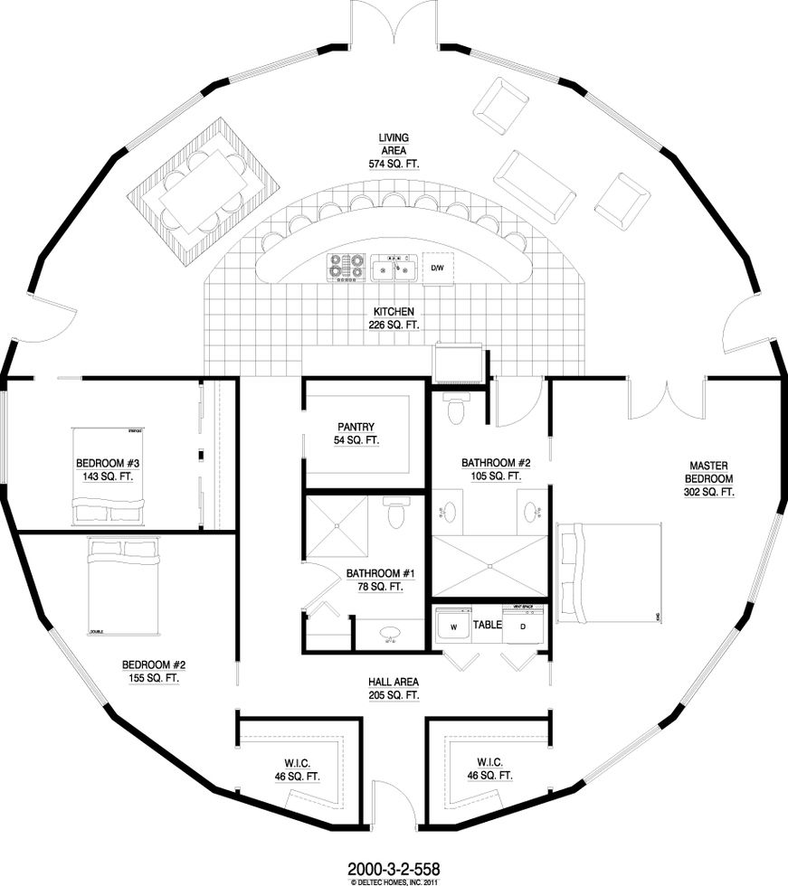 Round home floor plans for Ron lee homes floor plans