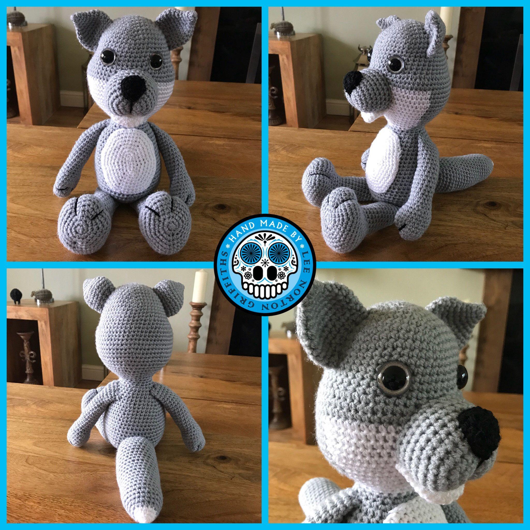 Wolf amigurumi pattern, crochet wolf pattern, wolf pattern ...