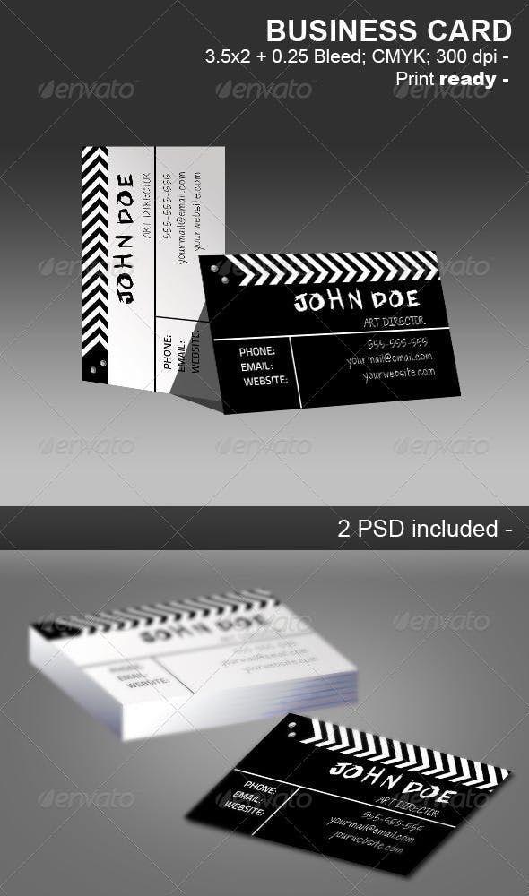 Movie Clapper Businnes Card — Photoshop PSD #clean #black #black #businnes #cl