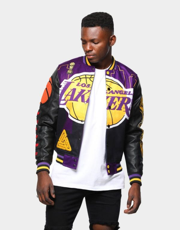 Los Angeles Lakers Jacket Shop With Confidence In 2020 Lakers Jacket Jackets Biker Outfit