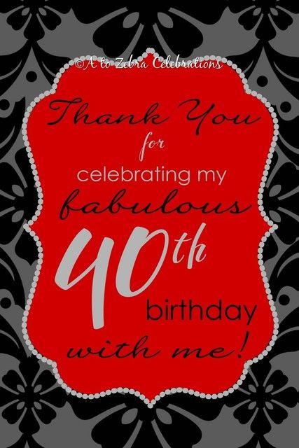 40th Birthday Party Birthday Party Ideas Photo 1 Of 25 40th Birthday Parties 40th Birthday Ideas For Girls 40th Party Ideas