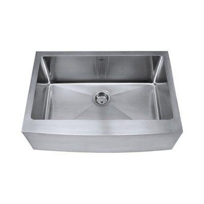 Kraus Khf200 30 Single Basin Farmhouse Kitchen Sink Khf200 30 Durable Stainless Steel Farm Sink Apron Sink Kitchen Stainless Steel Farmhouse Sink