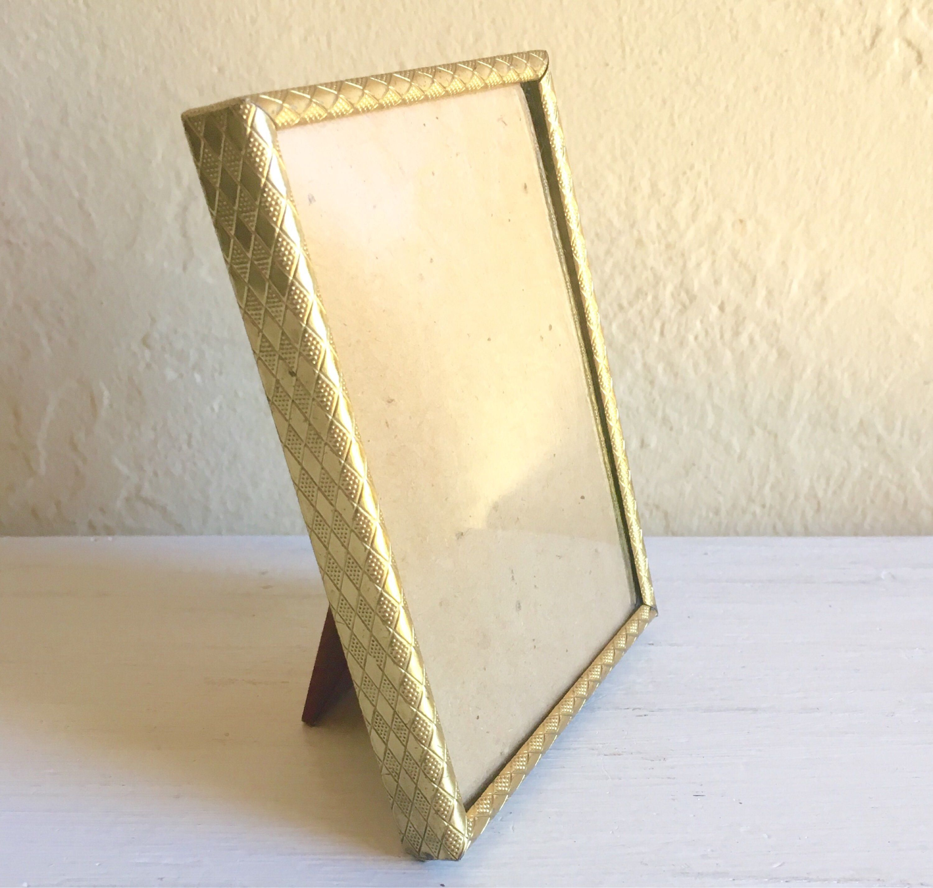 Vintage gold metal picture frame with convex bubble glass metals vintage gold metal picture frame with convex bubble glass jeuxipadfo Image collections