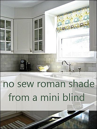 roman shades diy This is the easiest way I\u0027ve ever seen to make - rollos für die küche